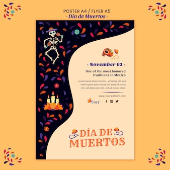 Day of the dead poster print template