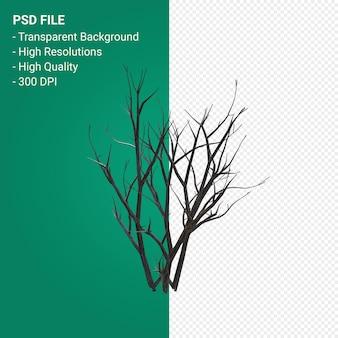 죽은 나무 3d 렌더링 절연