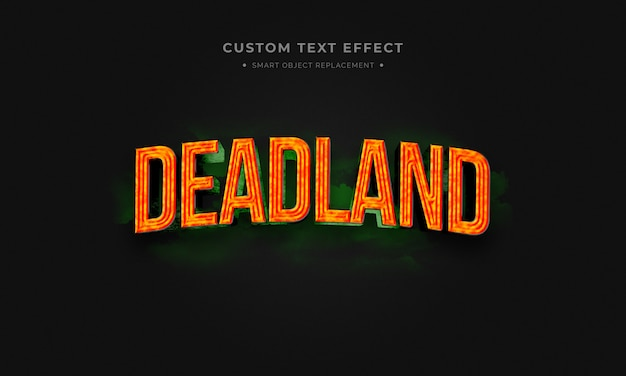 Deadland 3d text style
