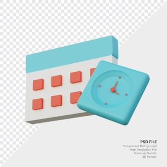 Крайний срок календарь сладкий синий 3d визуализации