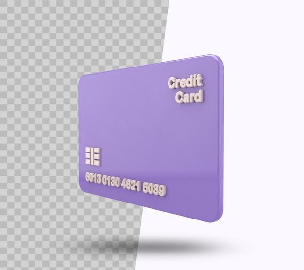 Дебетовая карта и кредитная карта 3d-рендеринга для бизнес-концепции Premium Psd