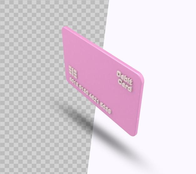 Дебетовая карта и кредитная карта 3d-рендеринга для бизнес-концепции