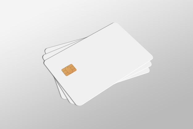 Debit card, credit card, smart card mock-up