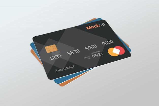 Debit card, credit card, smart card mock-up