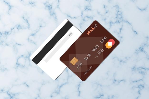 직불 카드, 신용 카드, 스마트 카드 모형