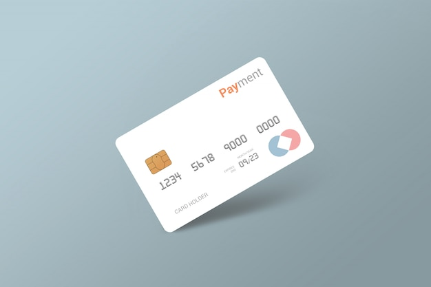 Debit card, credit card, smart card mockup