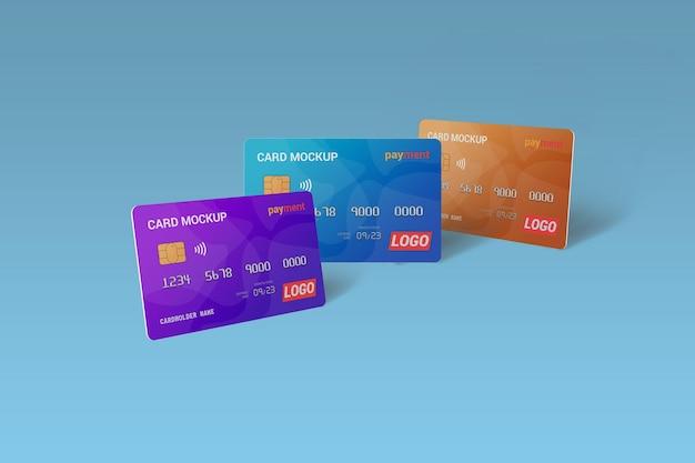 Debit card mockup rendering isolated