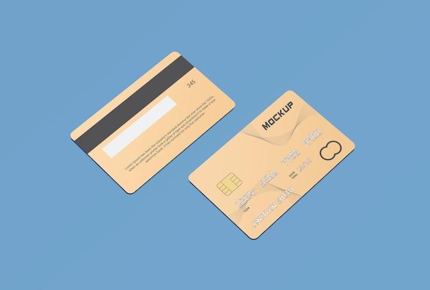 Debit card plastic card mockup design