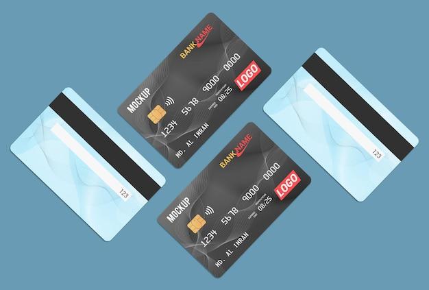 Debit card smart card mockup design