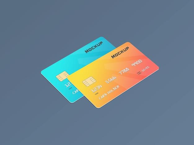 Шаблон макета смарт-карты дебетовой карты Premium Psd