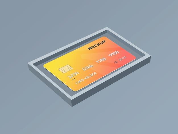 Шаблон макета смарт-карты дебетовой карты