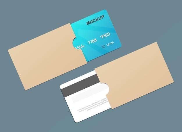 Макет смарт-карты дебетовой карты с протектором