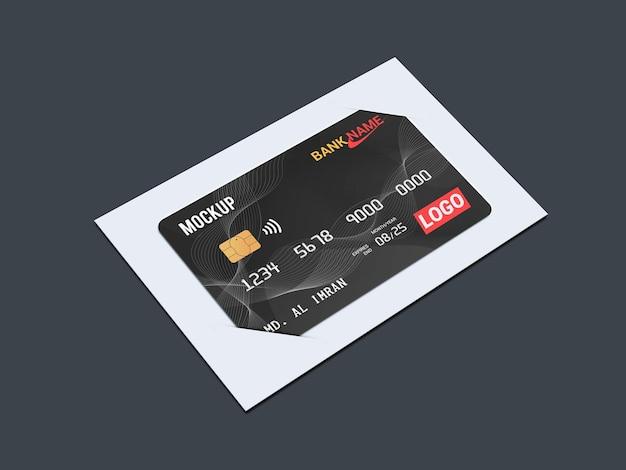 Дебетовая карта, смарт-карта, пластиковая карта в скобках, макет