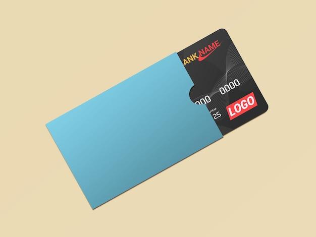 ペーパープロテクターモックアップのデビットカードスマートカードプラスチックカード
