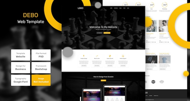 Debo services and marketing web template