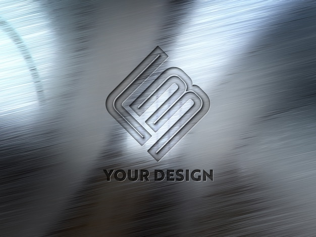 Debossed logo on metal plate