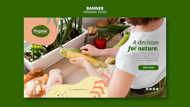Decisione per modello web banner natura