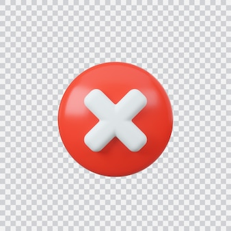 Decline sign button isolated