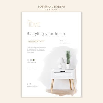 Deco home concept flyer template