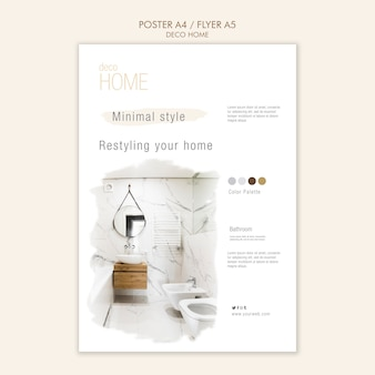 Deco home concept poster template