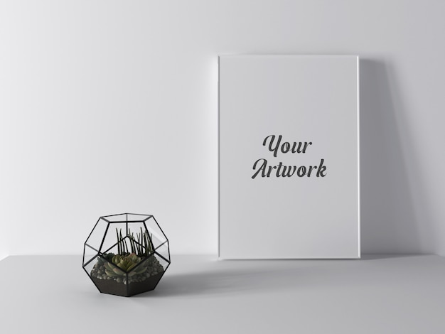 Decorated frame mockup
