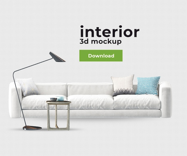 Decoration chair sofa in 3d render
