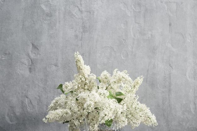 흰색 라일락 이랑 장식