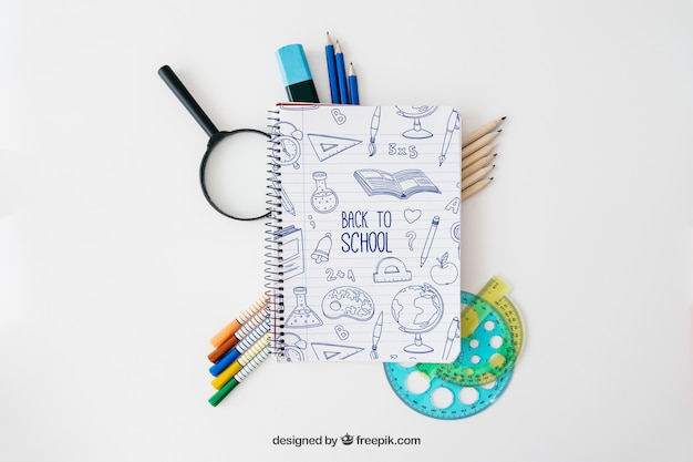 Decorative back to school mockup