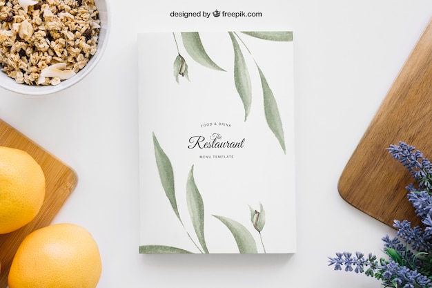 Decorative book cover mockup