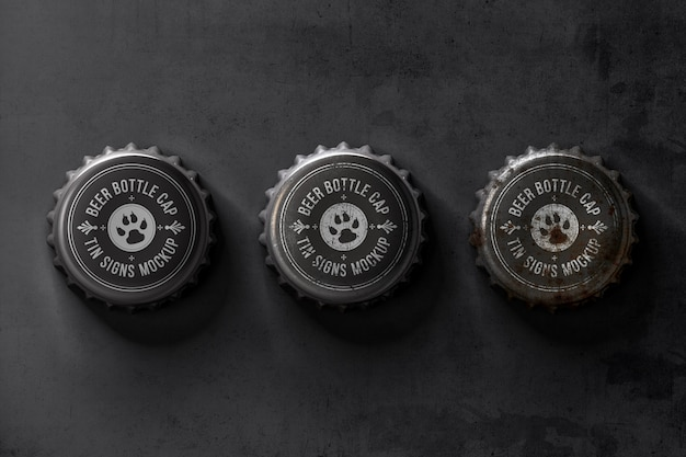 Decorative bottle cap mockup