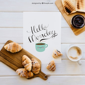 Decorative breakfast mockup