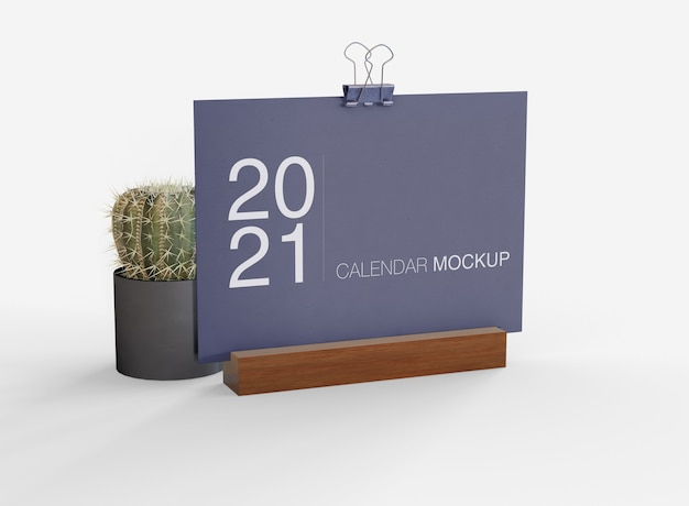 Decorative calendar mockup