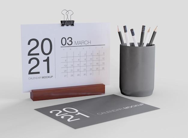 Decorative calendar mockup