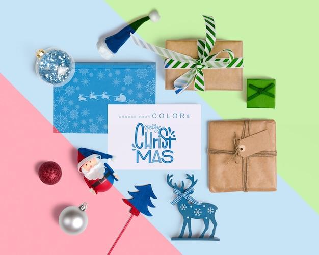 Decorative christmas mockup