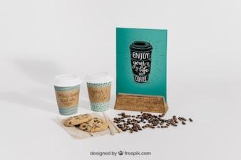 Decorative coffee mockup