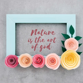 Decorative floral frame with positive quote