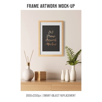 Decorative frame artwork mockup