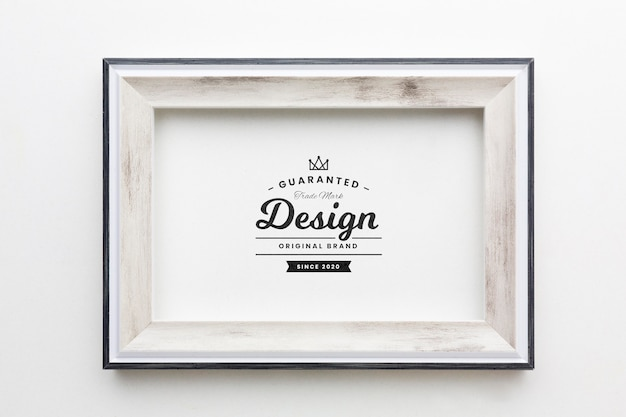 Concetto di cornice decorativa mock-up