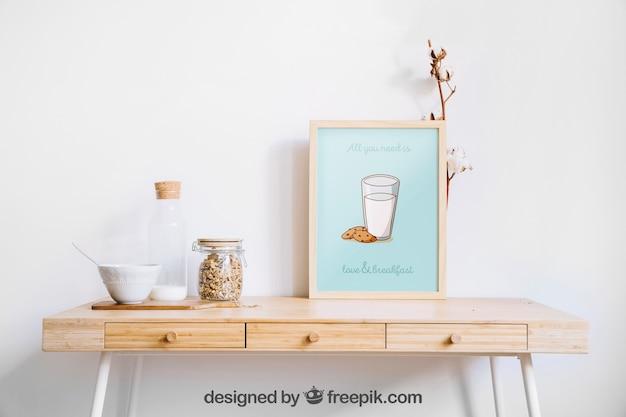 Decorative frame mockup
