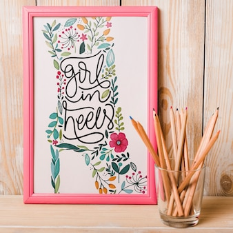 Decorative frame mockup