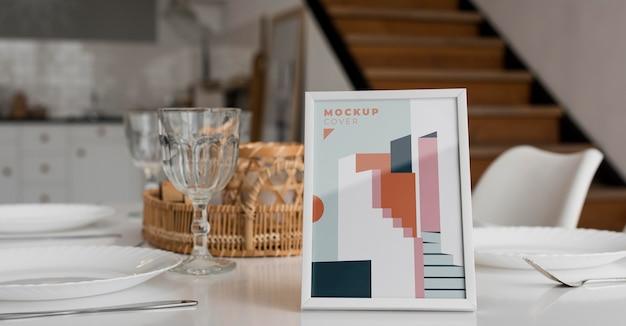 Disposizione del telaio decorativo mock-up