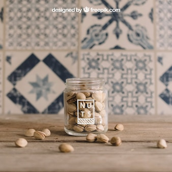 Decorative nuts mockup