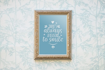 Decorative quote and frame mockup concept