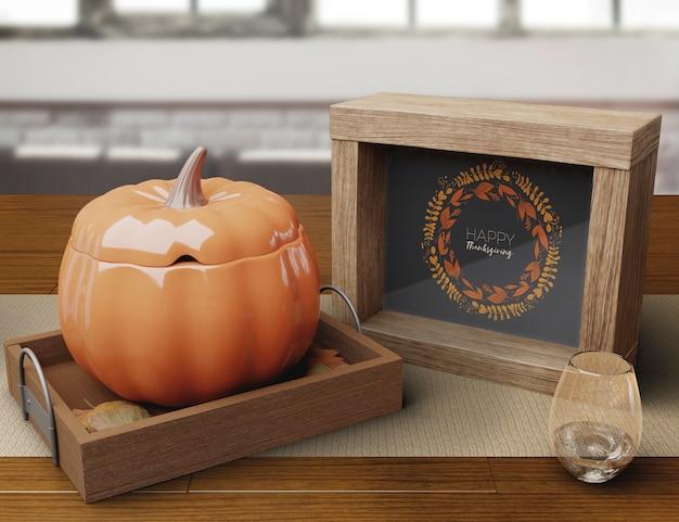 Decorative setup on thanksgiving day