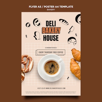 Deli bakery house flyer template
