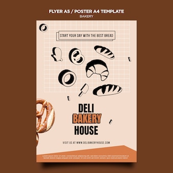 Deli bakery house poster template