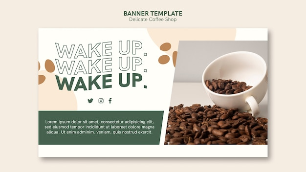 Delicate coffee shop banner style