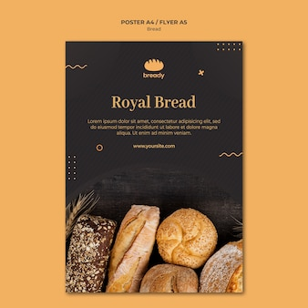 Delicious bakery shop flyer template