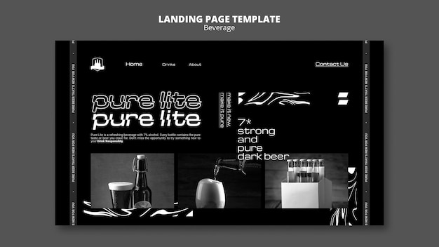 Delicious beverage landing page