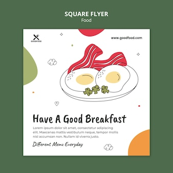 Delicious breakfast  squared flyer